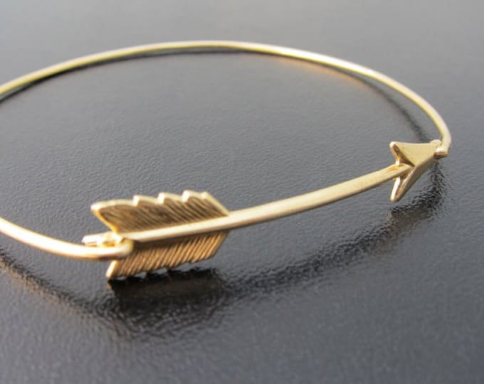 Arrow Bracelet for Women Arrow Jewelry Graduation Gift for Her Arrow Gift for Best Friend Sister Daughter Brass Arrow Bangle Frosted Willow