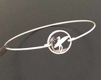 Surfer Bracelet for Women Surfer Jewelry Surfer Gift Surfboard Bracelet Surfboard Jewelry Surf Bracelet Surfing Jewelry Surfer Girl Jewelry