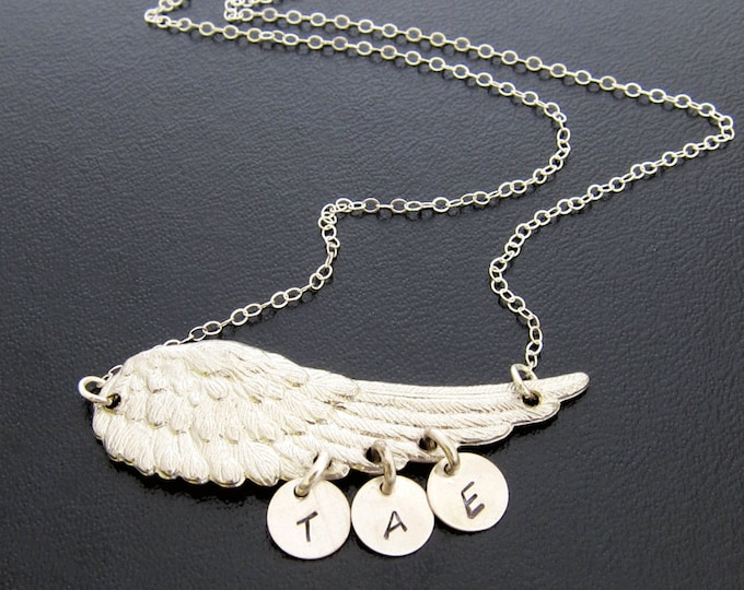 Personalized Mom Necklace with Kids Initials, Necklace for Mom of Three or up to 8 Initial Charms, Mom Birthday Gift From Daughter From Son