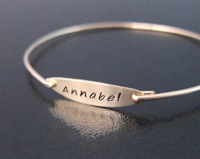 Name Bracelet for Women Custom Bracelet Personalize Name Bangle Bracelet with Name On It Name Jewelry for Mom with Kid Name Bracelet for Mom