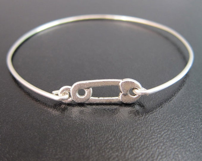 Safety Pin Jewelry, Safety Pin Bracelet Bangle, Solidarity, Political Movement, Statement Jewelry