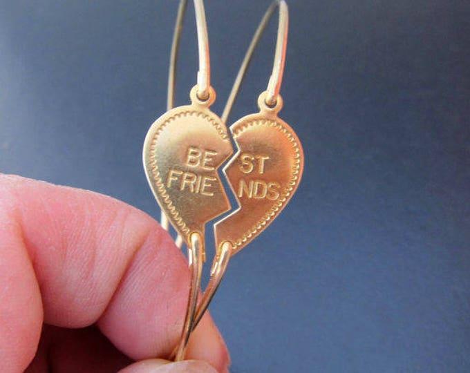 Best Friend Bracelets for 2 Long Distance Friendship Bracelet Set of 2 Two, Best Friend  Gift for Best Friend Heart Broken in Half