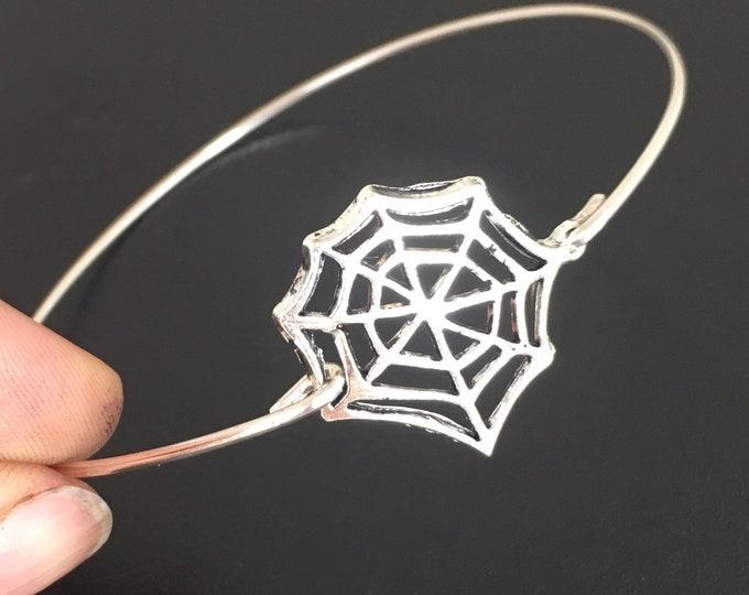 Spiderweb Bracelet Spiderweb Jewelry Halloween Jewelry for Women Halloween Bracelet Halloween Bangle Spider Web Bracelet Spider Web Jewelry
