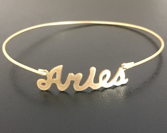 Aries Bracelet Aries Gift Aries Jewelry Aries Zodiac Bracelet Sign Aries Zodiac Gift Astrology Gift Aries Charm Bracelet Aries Birthday Gift