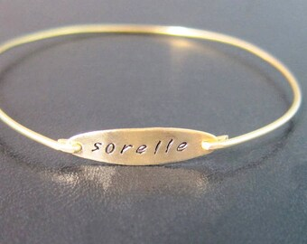 Sorelle, Bracelet Bangle, Jewelry, Braccialetto, Sorella, Bracciale, Personalizzato, Personalizzati, Braccialetti, Bracciali