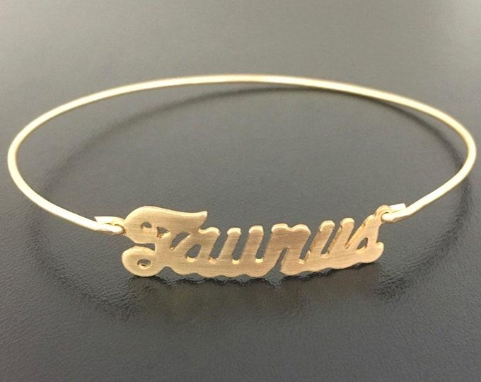 Taurus Bracelet Taurus Gift Taurus Jewelry Taurus Zodiac Gift Taurus Zodiac Sign Gift Astrology Taurus Charm Bracelet Taurus Birthday Gift