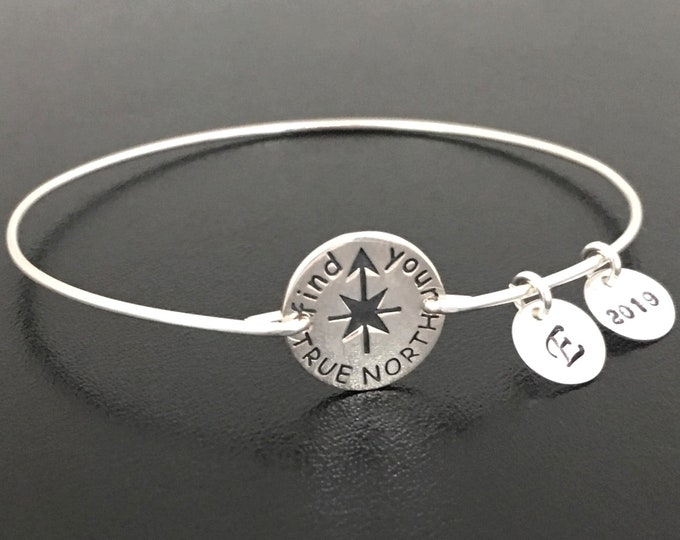 Find Your True North Star Bracelet Sterling Silver Inspirational Bracelet for Teen Girl Daughter Jewelry Inspirational Gift Women Graduate