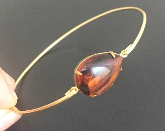 Brown Bracelet, Brown Bangle Bracelet, Brown Jewelry, Brown Bridesmaid Jewelry, Brown Bridesmaid Bracelet, Brown Wedding Bracelet