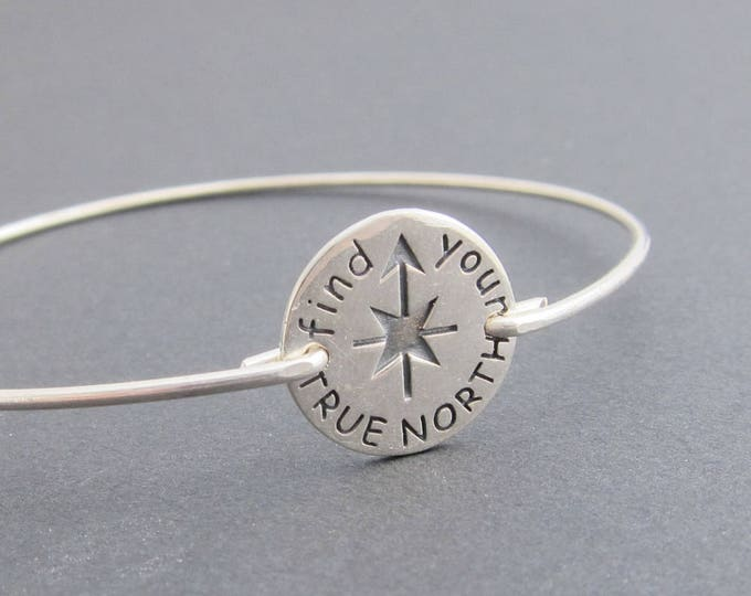 Find your True North Inspirational Jewelry, Sterling Silver North Star Bracelet, True North Jewelry