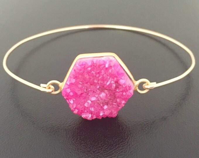 Pink Druzy Bracelet, Druzy Jewelry, Drusy Bracelet, Drusy Jewelry, Druzy Quartz Bracelet, Drusy Quartz Jewelry, Druzy Bangle Bracelet