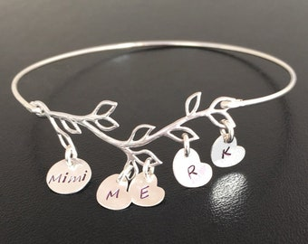 Personalized Mimi Bracelet Personalized Mimi Gift Idea Mimi Mothers Day Gift for Mimi Jewelry Mimi Birthday Gift Family Bracelet for Women