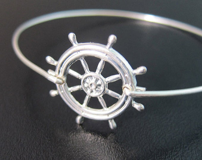 Ship Steering Wheel Bracelet Ocean Inspired Jewelry Ocean Theme Jewelry Boating Gift for Women Travel Gift Idea Travel Bracelet Ship Jewelry