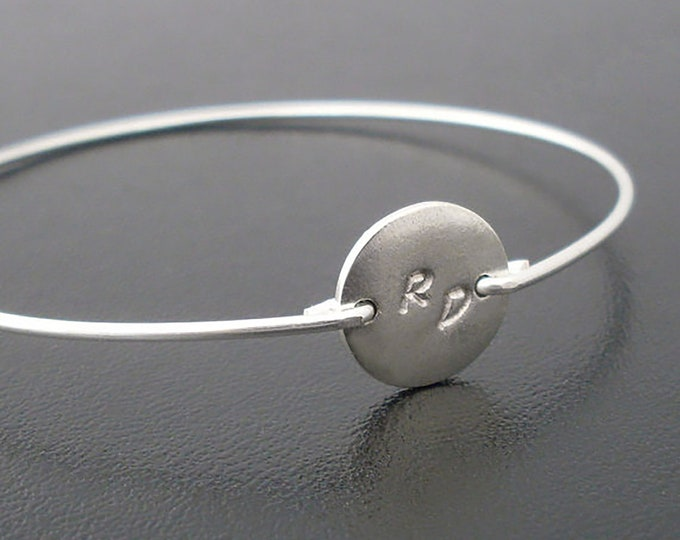 Double Initial Bracelet Personalized Bracelet for Woman Gift for Friend Female Double Letter Bracelet 2 Initial Bracelet Personalized Bangle