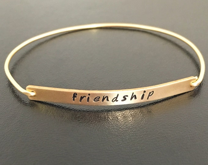 Custom Saying Bracelet Custom Bracelet Friendship Bracelet for Women Birthday Gift for Best Friend Thank You Gift for Friend Stamped Jewelry