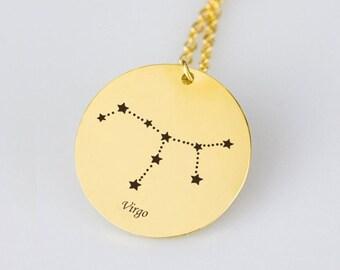 Virgo Necklace Gold Virgo Zodiac Necklace Virgo Zodiac Sign Necklace Star Virgo Zodiac Gift Virgo Horoscope Necklace Horoscope Sign Necklace