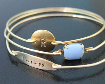 My Dear Baby, Personalized Jewelry for Mom, Personalized Gift for Mom, Personalized Mom Jewelry, New Mom Bracelet, Personalized Mom Gift
