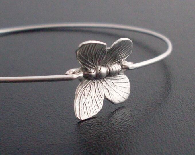 Butterfly Bracelet Silver Tone Butterfly Jewelry for Women Butterfly Bridesmaid Gift Butterfly Charm Bracelet Butterfly Bangle Bracelet