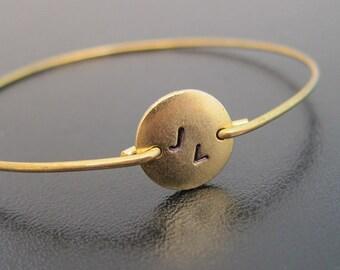 2 Initial Bracelet Custom Bracelet Her Personalized Monogram Gift for Women Monogram Bracelet Gold Plated Circle Disc Two Initial Bracelet