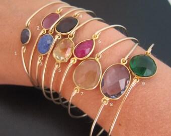Select a Gemstone Bangle Bracelet Gemstone Bracelet Gemstone Jewelry Gorgeous Jewelry Stone Bracelet for Women Stone Jewelry Stone Bangle
