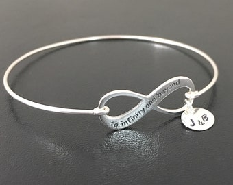 To Infinity and Beyond Bracelet Sterling Silver Wedding Bracelet for Bride from Groom Wedding Anniversary Gift for Wife Daughter Sister Her