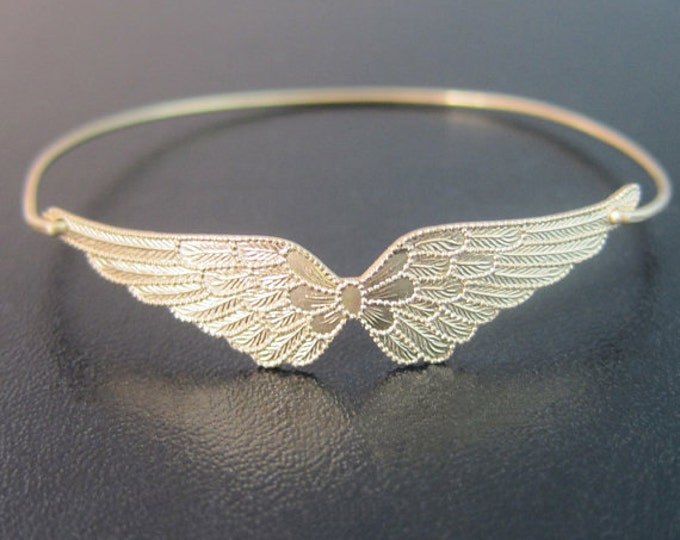 Double Wing Bracelet Gold Tone Patriotic Gift for Air Force Wife Gift Air Force Girlfriend Gift Airforce Mom Air Force Mom Gift Wing Jewelry