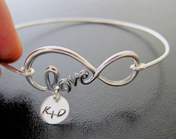 Love Infinity Bracelet Girlfriend Gift Idea Personalize Valentine Day Gift for Her Valentines Jewelry Gift for Girlfriend from Boyfriend