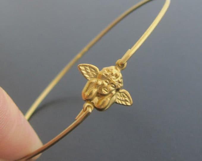 Guardian Angel Bracelet, Guardian Angel Jewelry, Cherub Bracelet, Cherub Jewelry, Biblical Jewelry, Angel Charm Bracelet, Angel Bangle