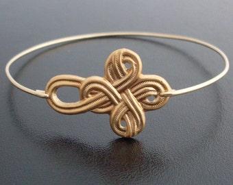 Nautical Knot Bracelet - Gold Tone, Sailor Knot Bracelet, Infinity Knot Bracelet, Sailors Knot Jewelry, Sailor Bracelet