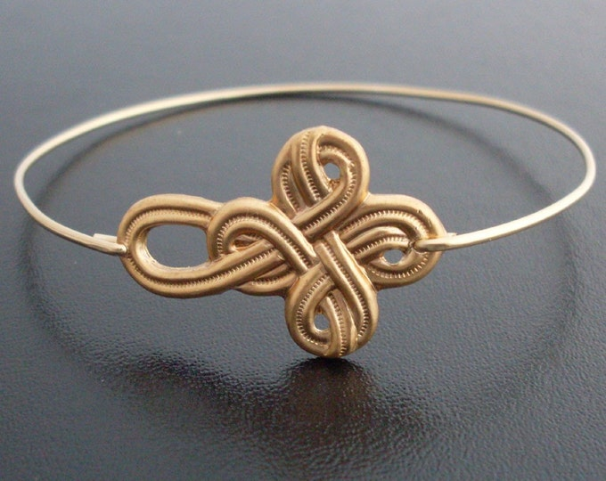 Nautical Knot Bracelet - Gold Tone, Sailor Knot Bracelet, Infinity Knot Bracelet, Sailors Knot Jewelry, Sailor Bracelet