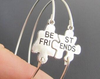 Birthday Gift for Best Friend, Puzzle Bracelet Set, 2 Puzzle Piece Bracelets, Bestfriend Gift, Puzzle Piece Jewelry, Puzzle Jewelry