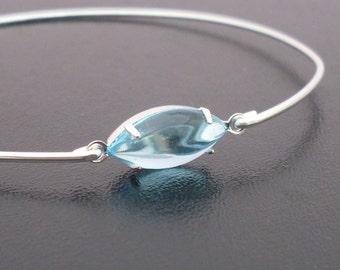 Aqua Blue Bracelet, Aurelia, Silver Bangle, Aqua Bracelet, Aqua Jewelry, Aqua Marine Jewelry, Aqua Bridesmaid Jewelry, Aqua Blue Jewelry