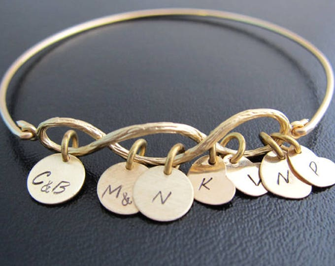 Three Generations Bracelet for Grandma Mother Gift Personalized Grandma Bracelet Grandma Gift Idea from Kids from Grandkids Baby Toddler