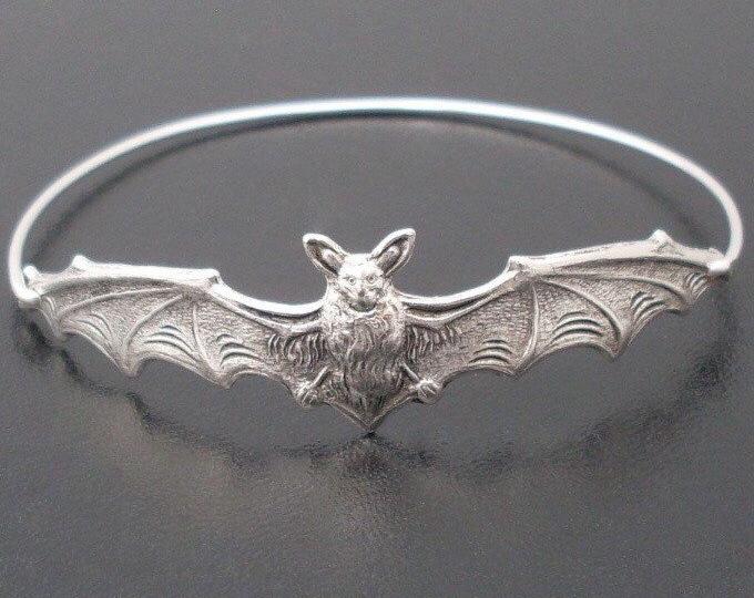 Halloween Bracelet Bat Jewelry Bat Bracelet Halloween Jewelry for Women Halloween Gift Idea for Adults Bat Bangle Halloween Bangle Bracelet