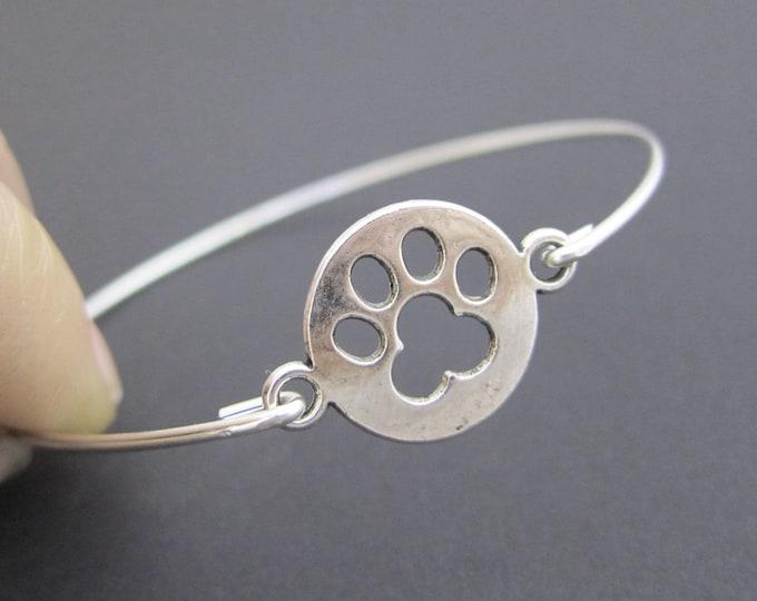 Dog Paw Print Bracelet Paw Print Jewelry Paw Bracelet for Women Dog Lover Gift Idea for Mom Dog Owner Dog Lover Bracelet Dog Lover Jewelry