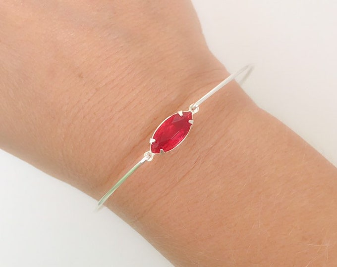 Red Bracelet for Women Red Jewelry Red Bridal Bracelet Red Wedding Jewelry Red Bangle Bracelet Red Bridesmaid Jewelry Red Bridesmaid Gift