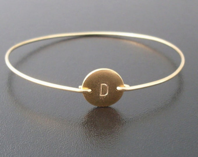 Personalized Gold Bracelet, Personalized Bracelet, Monogram Initial Bracelet, Gold, Hand Stamped Bracelet, Custom, Gold Stamped Bracelet
