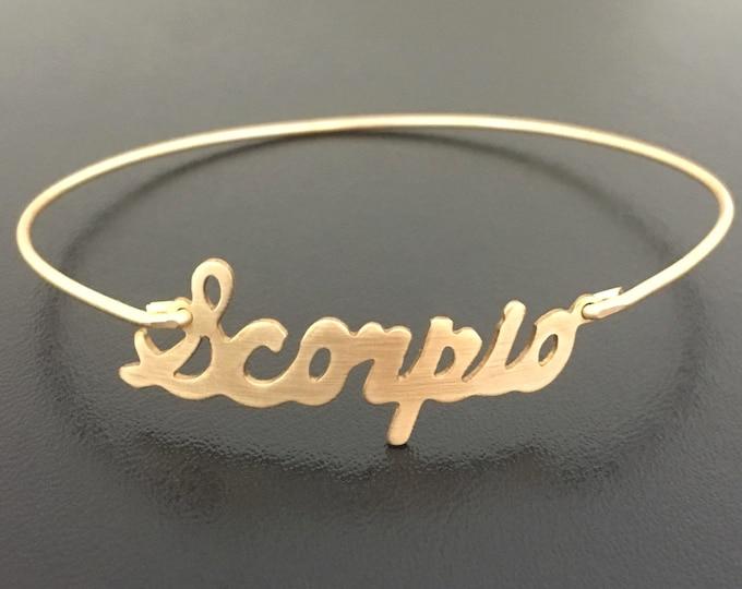 Scorpio Bracelet Astrology Scorpio Gift Scorpio Jewelry Zodiac Bracelet Zodiac Gift Scorpio Birthday Gift October Bracelet November Jewelry