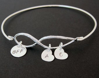 BFF Bracelet Custom Charm Bracelet BFF Christmas Gift Birthday Gift for Best Friend Gift Long Distance Friendship Bracelet BFF Gift Idea
