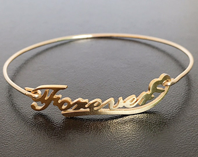 Forever Bracelet Anniversary Bracelet for Girlfriend Anniversary Gift for Her Anniversary Jewelry for Wife Forever Jewelry for Women Bangle