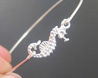 Seahorse Bracelet Sterling Silver Seahorse Jewelry Sea Horse Bracelet Ocean Jewelry for Women Gift For Ocean Lover Bracelet Ocean Theme Gift