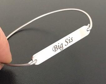 Stainless Steel Big Sis Bracelet Big Sis Gift Big Sister Gift Idea Lil Sis Bracelet Mid Sis Bracelet Big Sis Middle Sis Little Sis Bracelets