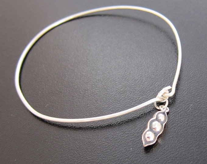 Dangle Bangle 3 Peas in a Pod - Sterling Silver