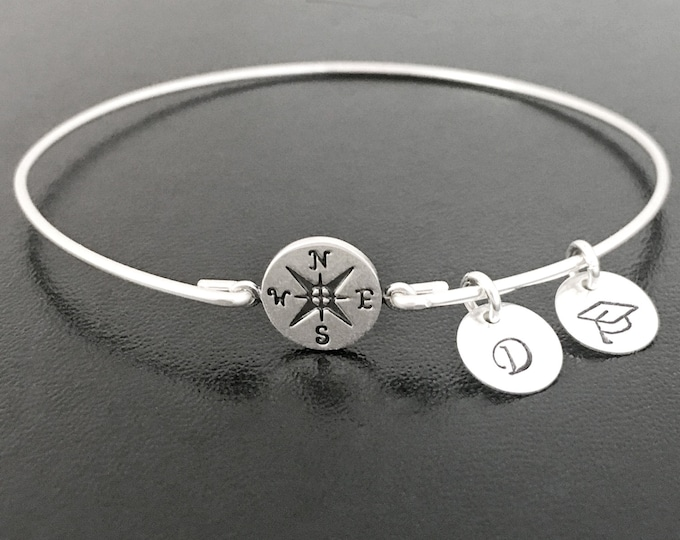 Compass Bracelet High School Graduation Gift for Daughter from Mom and Dad for Her Sister Best Friend Niece Daughter Teen Girl Teenage Grad