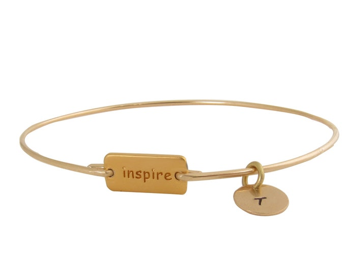 Inspire Bracelet Personalized Inspirational Bracelet Inspirational Jewelry for Women Inspirational Graduation Gift for Her Friend Co-worker