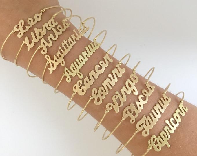 Zodiac Sign Bracelet, Zodiac Jewelry, Zodiac Charm Bracelet, Astrology Bracelet, Astrology Jewelry, Astrological Jewelry, Zodiac Bracelet