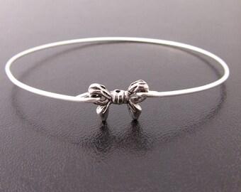Bow Bracelet, Bow Bangle, Bow Jewelry, Tie the Knot Bangle, Wedding, Bridesmaid Knot Bracelet, Tying the Knot Jewelry, Ribbon Jewelry