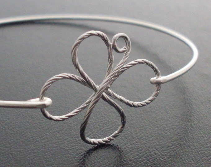4 Leaf Clover Bracelet Irish Bracelet for Women Irish Jewelry Irish Gift for Sister Her Lucky Charm Bracelet Good Luck 4 Leaf Clover Jewelry