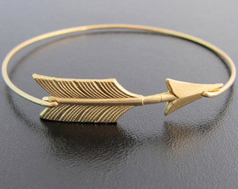 Arrow Bracelet for Women Arrow Bangle Bracelet Arrow Jewelry Brass Stackable Bracelet Stackable Bangle Graduation Gift Idea for Best Friend