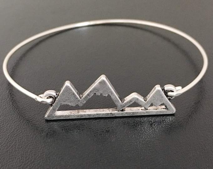 Mountain Jewelry Move Mountain Bracelet for Women Hiking Bracelet Hiking Gift Hiker Jewelry Mountain Lover Mountain Range Climbing Bracelet