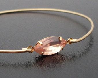 Peach Bracelet, Peach Jewelry, Peach Bridesmaid Jewelry, Pastel Bracelet Bangle, Pastel Jewelry